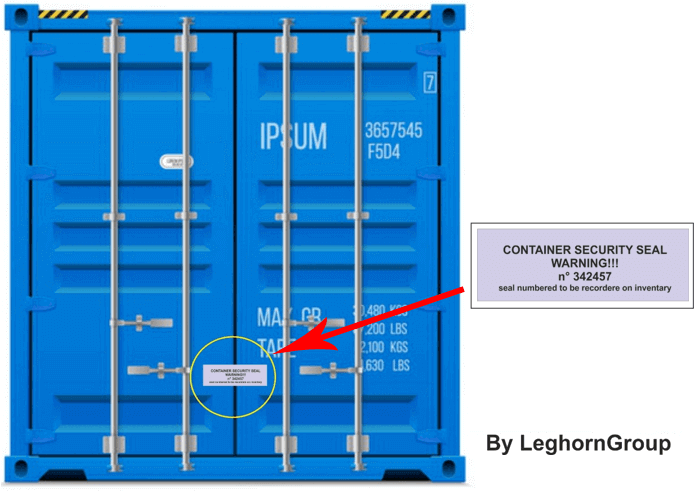 container void labels seal correct position